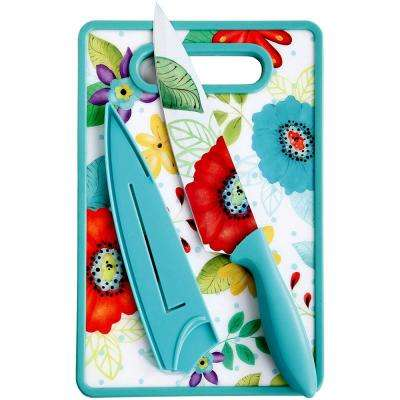 Jordana 8 in. Chef Knife with Sheath and Cutting Board