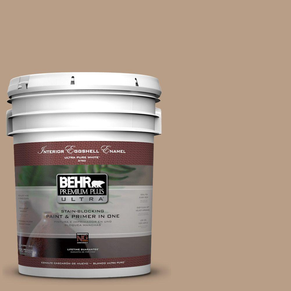 BEHR Premium Plus Ultra 5-gal. #ICC-52 Cup of Cocoa Eggshell Enamel Interior Paint