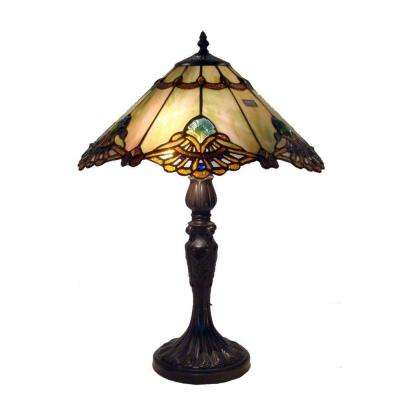 22 in. Tiffany Courtesan Multicolored Table Lamp