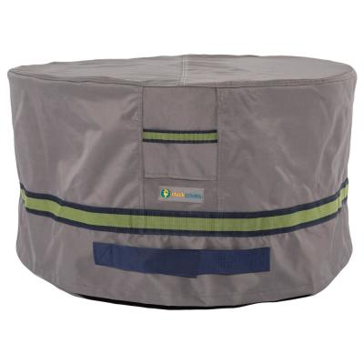 Soteria 32 in. Grey Round Patio Ottoman/Side Table Cover