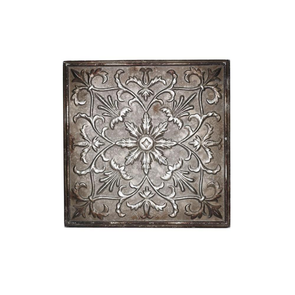 12.5 in. x 12.5 in. Classic Floral Burst Wall Plaque