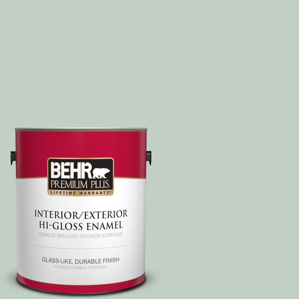 1 gal. #PPU11-13 Frosted Jade Hi-Gloss Enamel Interior/Exterior Paint