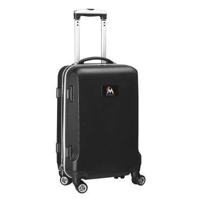 Denco MLB Miami Marlins Black 21 in. Carry-On Hardcase Spinner Suitcase