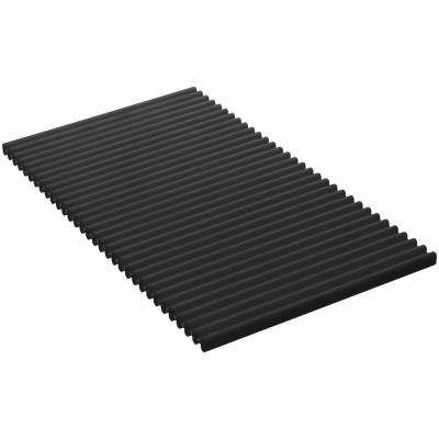 Flexible Silicone Kitchen Trivet Mat in Charcoal
