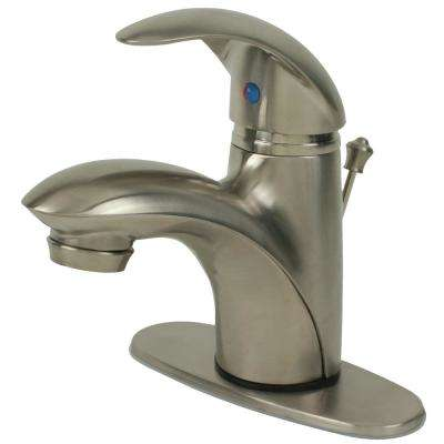 Builder's Series 4 in. Centerset Single-Handle Bathroom Faucet with Pop-Up Assembly in Brushed Nickel