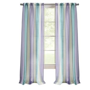 Spectrum 50 in. W x 63 in. L Polyester Light Filtering Window Panel in Lilac/Turquoise