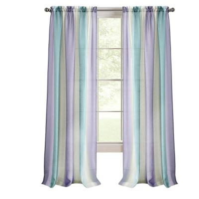 Spectrum 50 in. W x 84 in. L Polyester Light Filtering Window Panel in Lilac/Turquoise