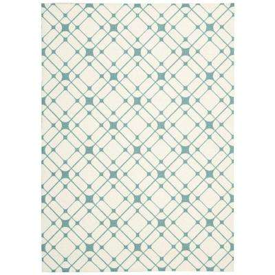 Enhance Ivory Turquoise 2 ft. 6 in. x 4 ft. Accent Rug
