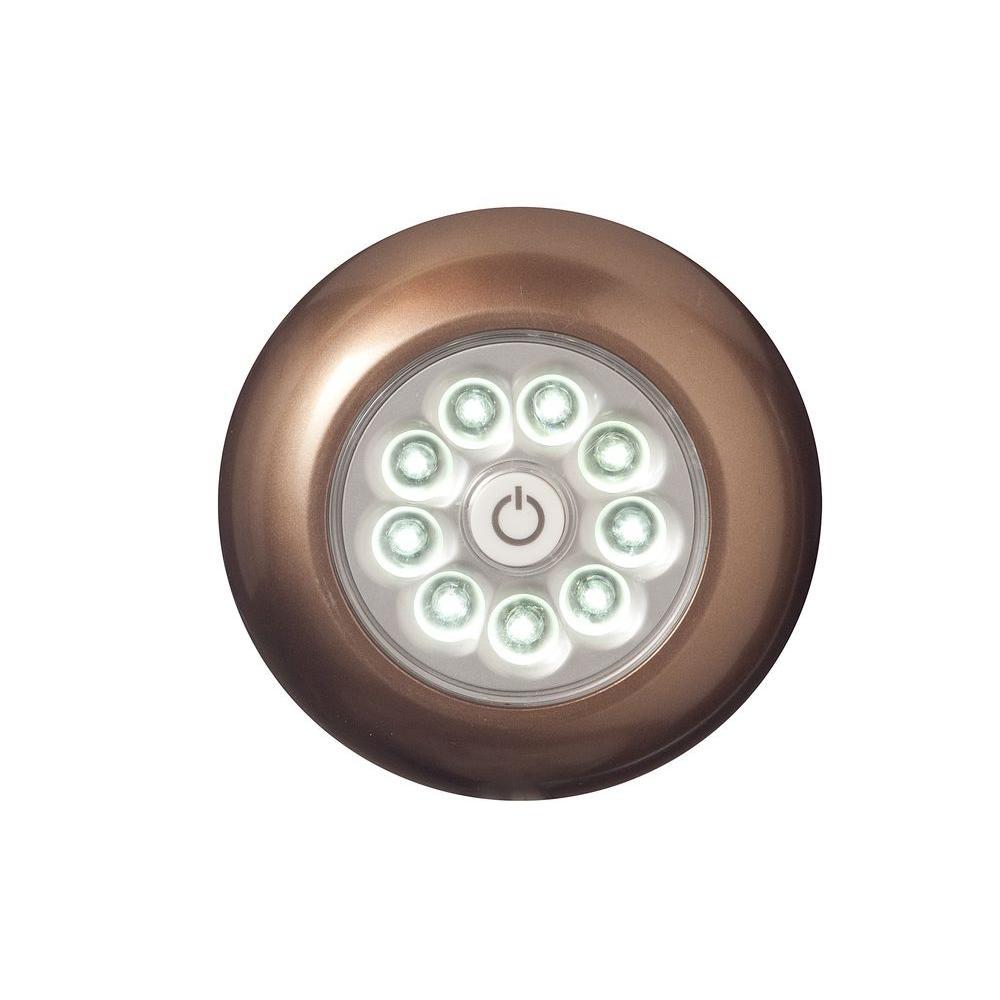 Bronze 9-LED Anywhere Light (3-Pack)