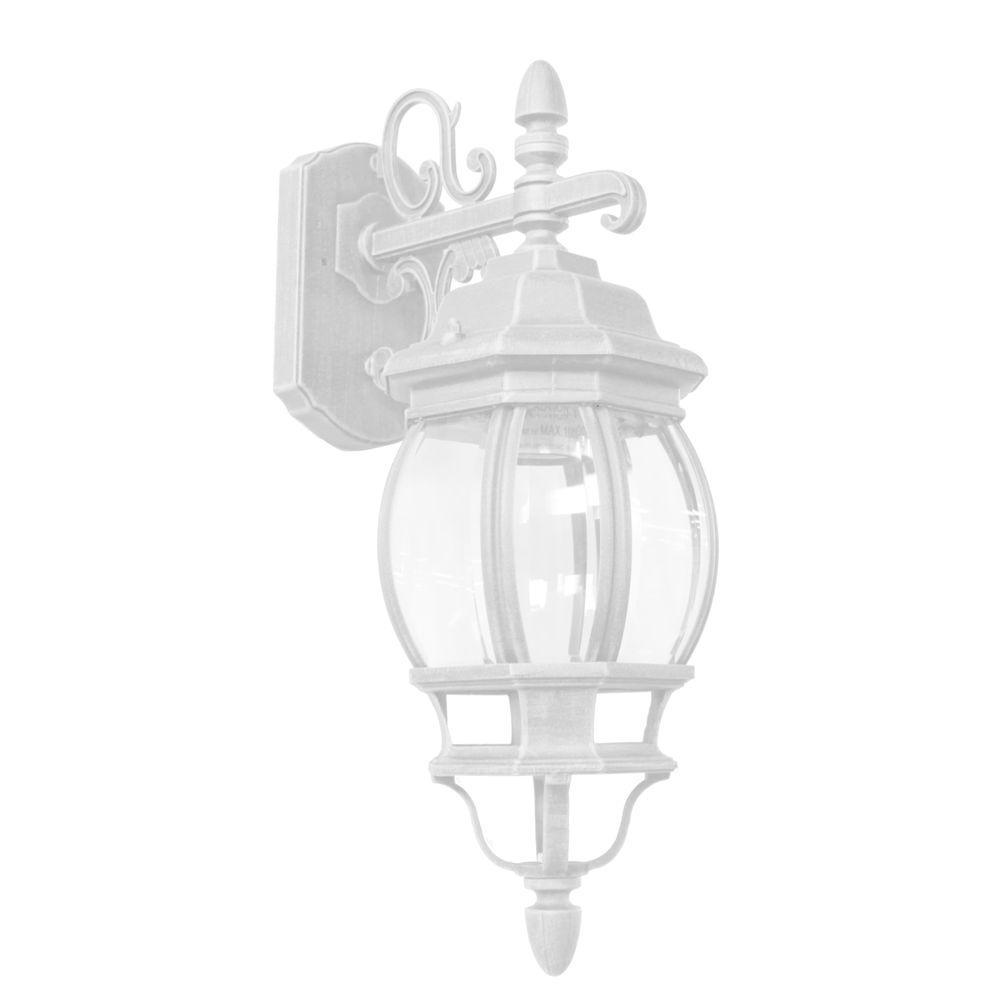 ARTCRAFT Classico 1 - Light White Outdoor Wall lantern Classico small outdoor wall mount, European styled lantern-down with clear glassware and in white finish