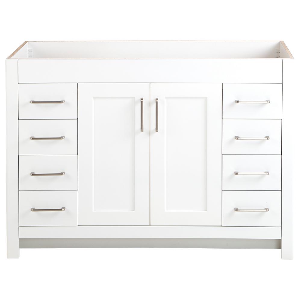 Westcourt 48 in. W x 21 in. D x 34 in. H Bath Vanity Cabinet Only in White