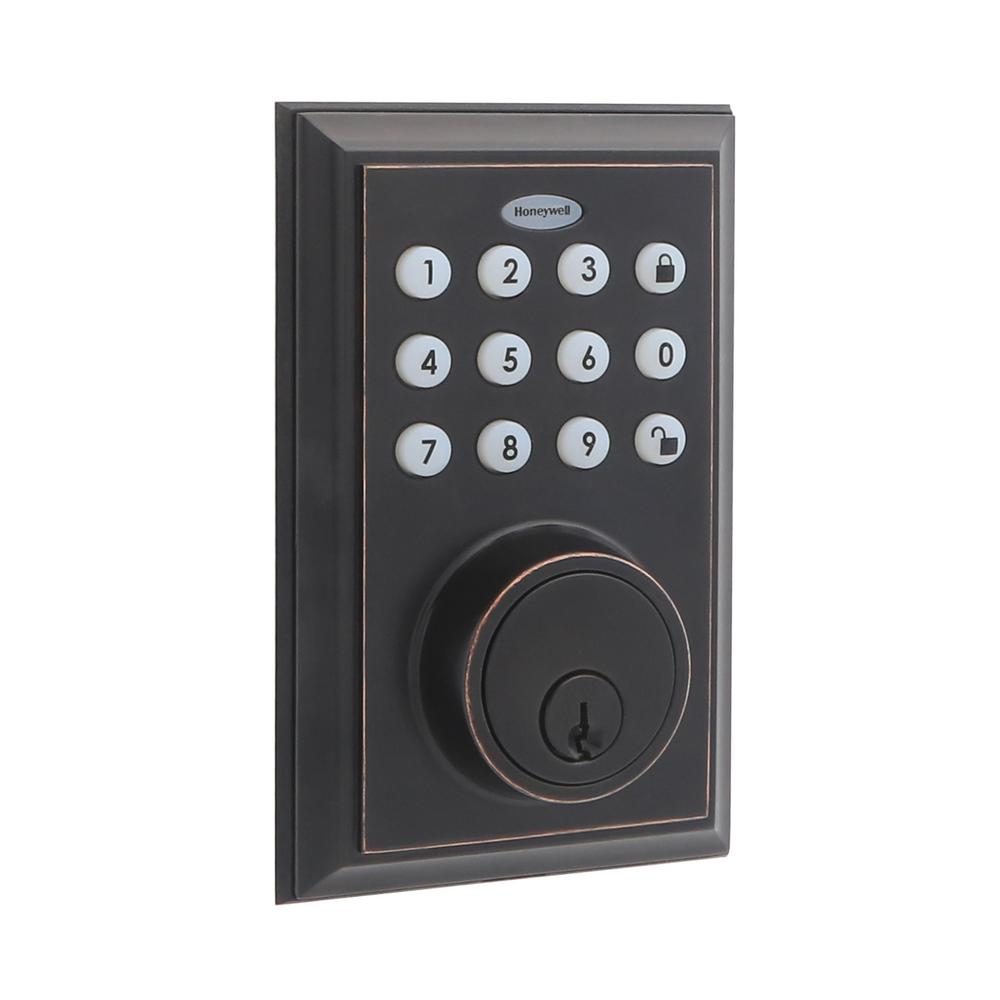 Bluetooth Digital Single Cylinder Deadbolt Lock Oil Rubbed Bronze