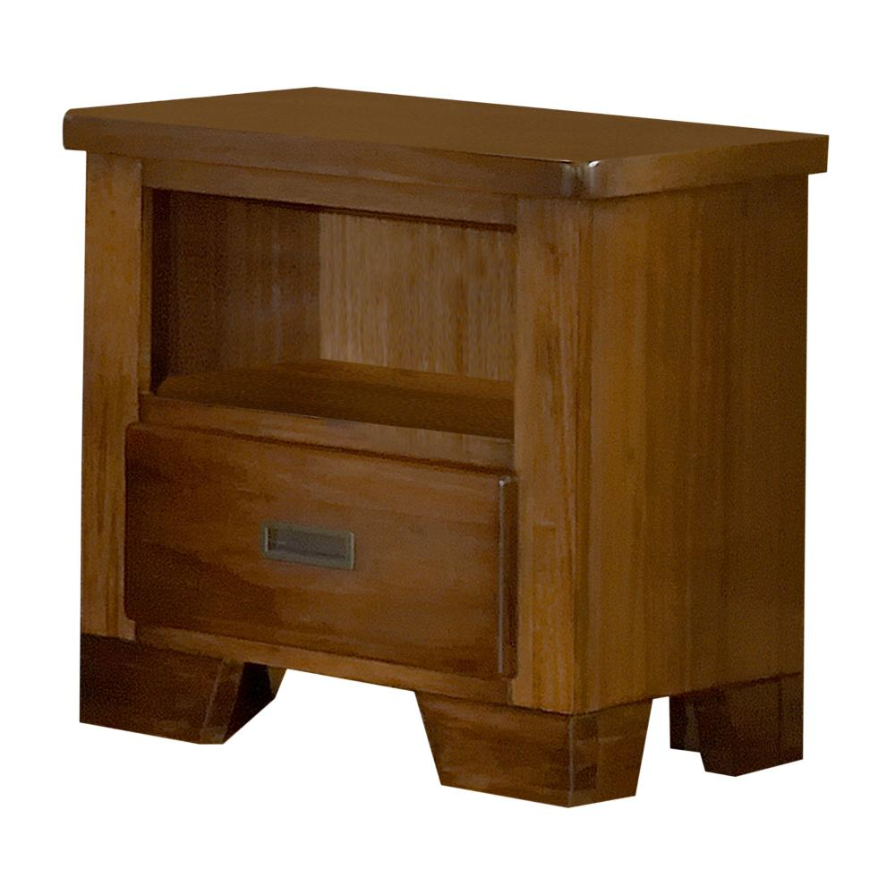 Heartland 1-Drawer Spice Brown Nightstand