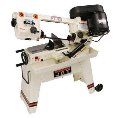 1/2 HP 5 in. x 8 in. Wet Metalworking Horizontal Band Saw with Rolling Stand, 3-Speed, 115-Volt, J-3230