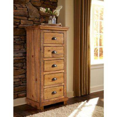 Willow 5-Drawer Distressed Pine Lingerie Chest