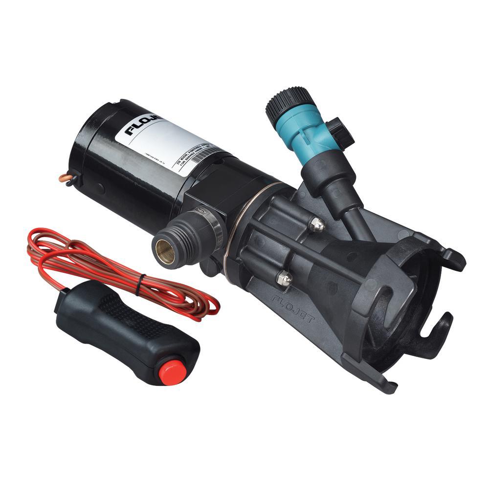 Portable RV 12-Volt Non-Submersible Waste Pump