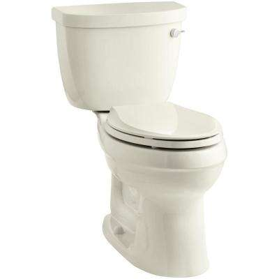 Cimarron 2-Piece 1.6 GPF Elongated Toilet with AquaPiston Flushing Technology in Biscuit