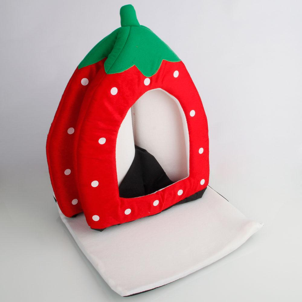 Awe Inspiring Soft Cotton Cute Strawberry Style Multi Purpose Pets Dog Cat House Nest Yurt Size L Bright Red Home Interior And Landscaping Synyenasavecom