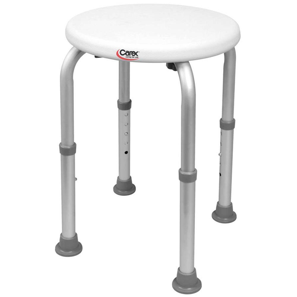 Carex Health Brands Compact Shower Stool-B9-TF - The Home Depot