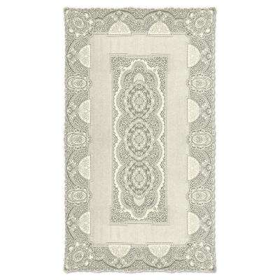 Canterbury Classic Rectangle ECRU Cotton Tablecloth
