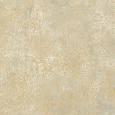 Blue with Metallic Gold Veining Frost Wallpaper