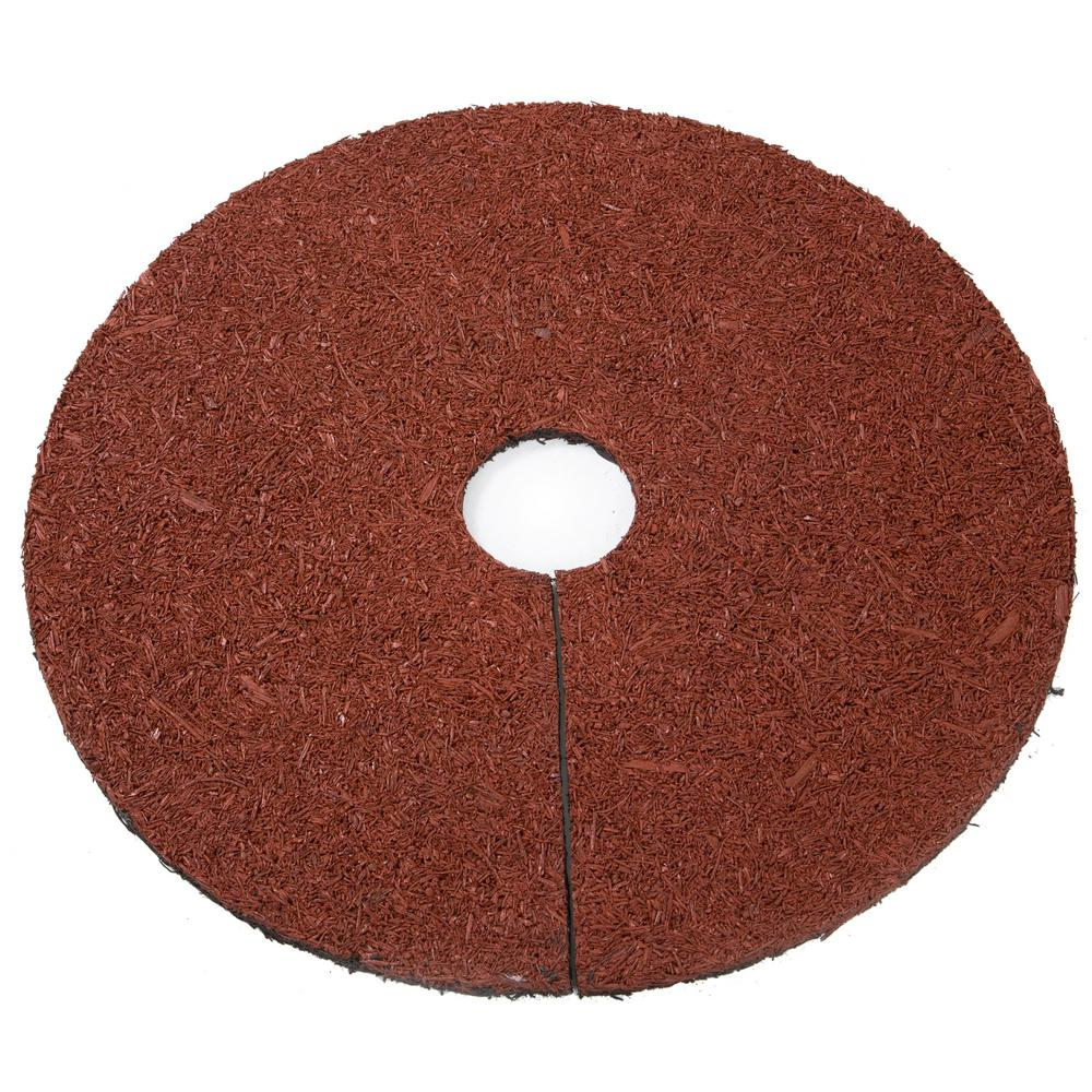 Trademark Innovations 24 in. Reversible Mulch Ring Tree Protector Mat