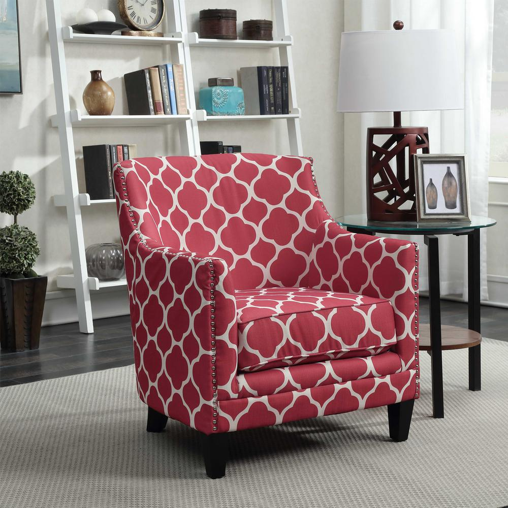 Deena Red Accent Chair UDH708100CA - The Home Depot