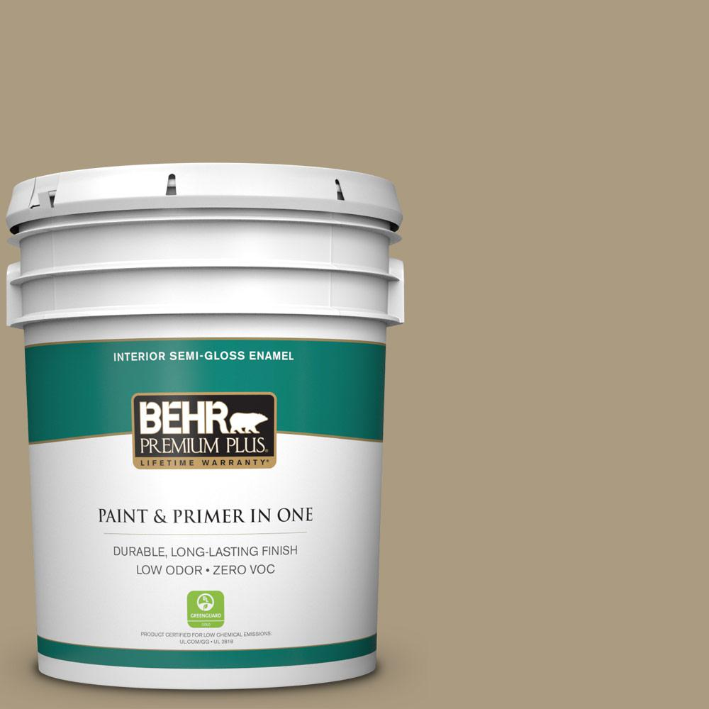 5-gal. #BNC-16 Winter Sage Semi-Gloss Enamel Interior Paint