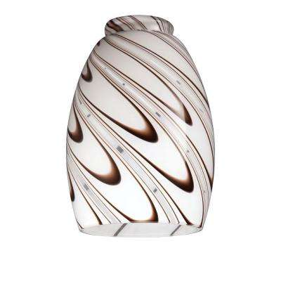 6-3/8 in. Handblown Chocolate Drizzle Shade with 2-1/4 in. Fitter and 4-3/8 in. Width