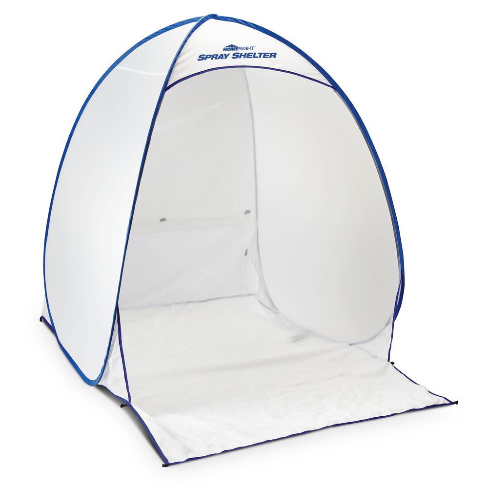 HomeRight 4.7 ft. x 5.6 ft. White Polyester Medium Spray Shelter