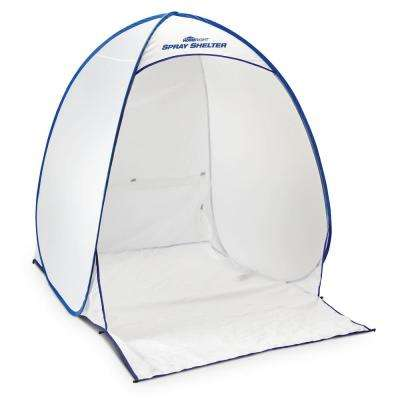 4.7 ft. x 5.6 ft. White Polyester Medium Spray Shelter