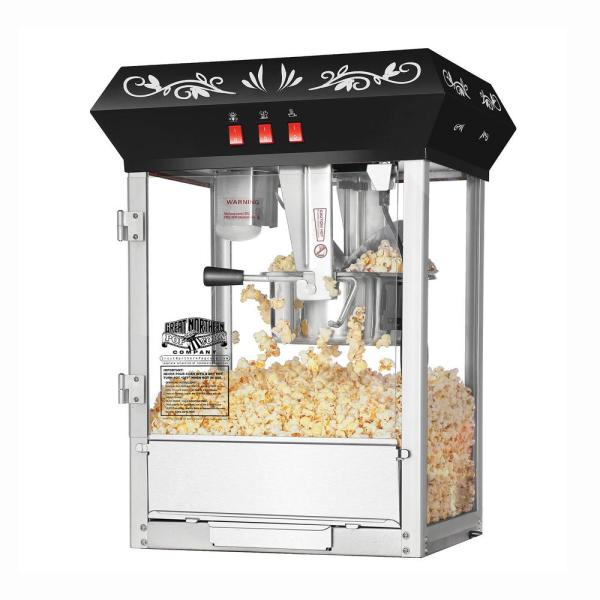 850-Watt 8 oz. Black Popcorn Popper