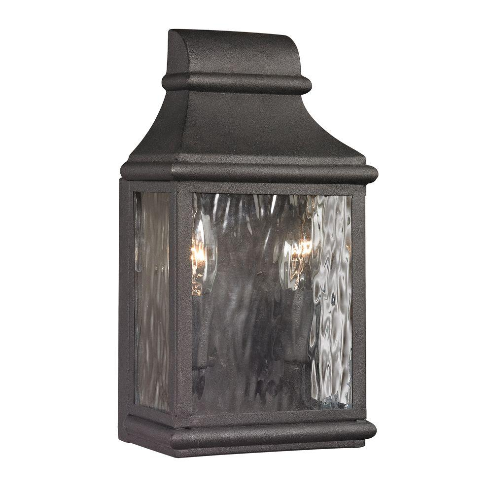 Titan Lighting Worcester Forge Collection 2-Light Charcoal Outdoor Sconce  sc 1 st  The Home Depot & Titan Lighting Worcester Forge Collection 2-Light Charcoal Outdoor ... azcodes.com