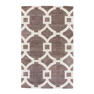Smoked Pearl 9 ft. x 12 ft. Trellis Area Rug