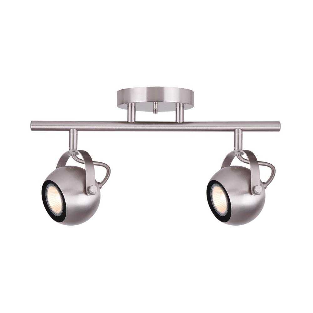 Murphy 15 in. 2-Light Brushed Nickel Track Lighting Kit