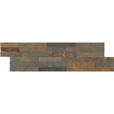 Gold Rush Veneer Peel and Stick 6 in. x 22 in. Natural Slate Wall Tile (13.80 sq. ft. / case)