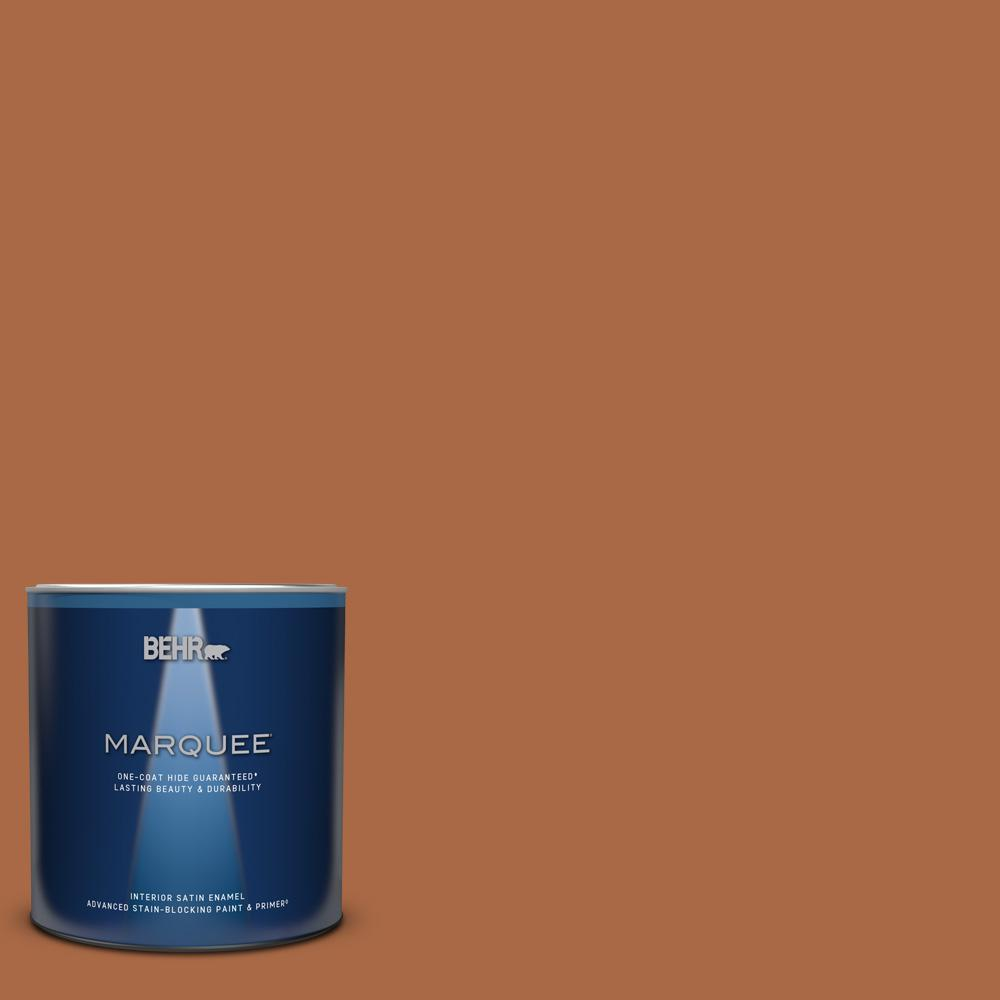 BEHR MARQUEE 1 qt. #PPU3-16 Maple Glaze Satin Enamel Interior Paint and Primer in One