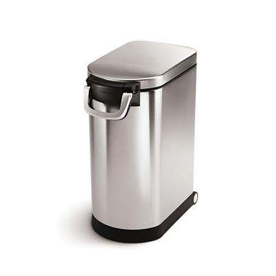 Large Pet Food Storage Can in Fingerprint-Proof Brushed Stainless Steel