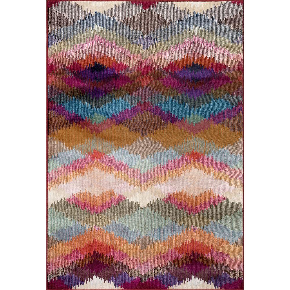 World rug gallery distressed modern geometric multi 7 ft for Geometric print area rugs