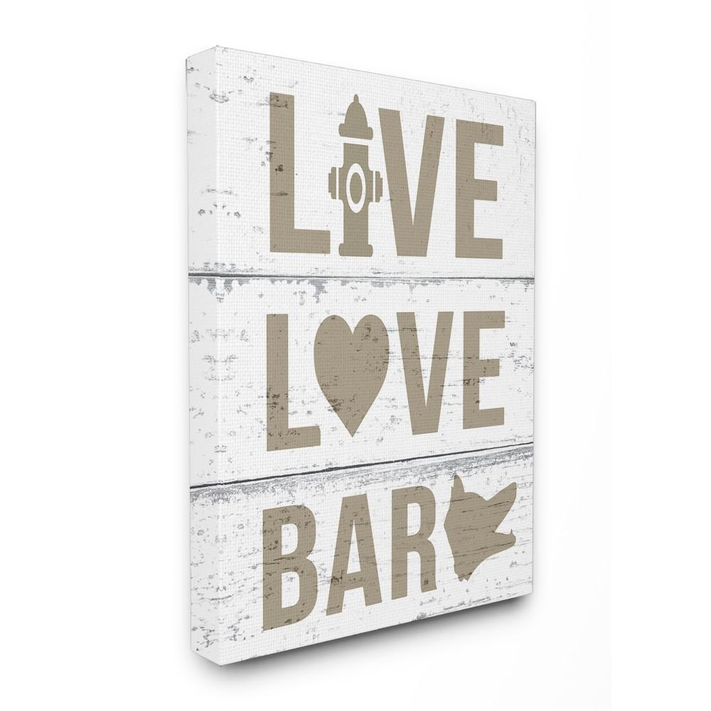 stupell industries 16 in x 20 in live love bark by daphne