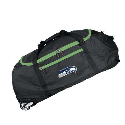 NFL Seattle Seahawks 36 in. Checked-In Rolling Duffel in Black