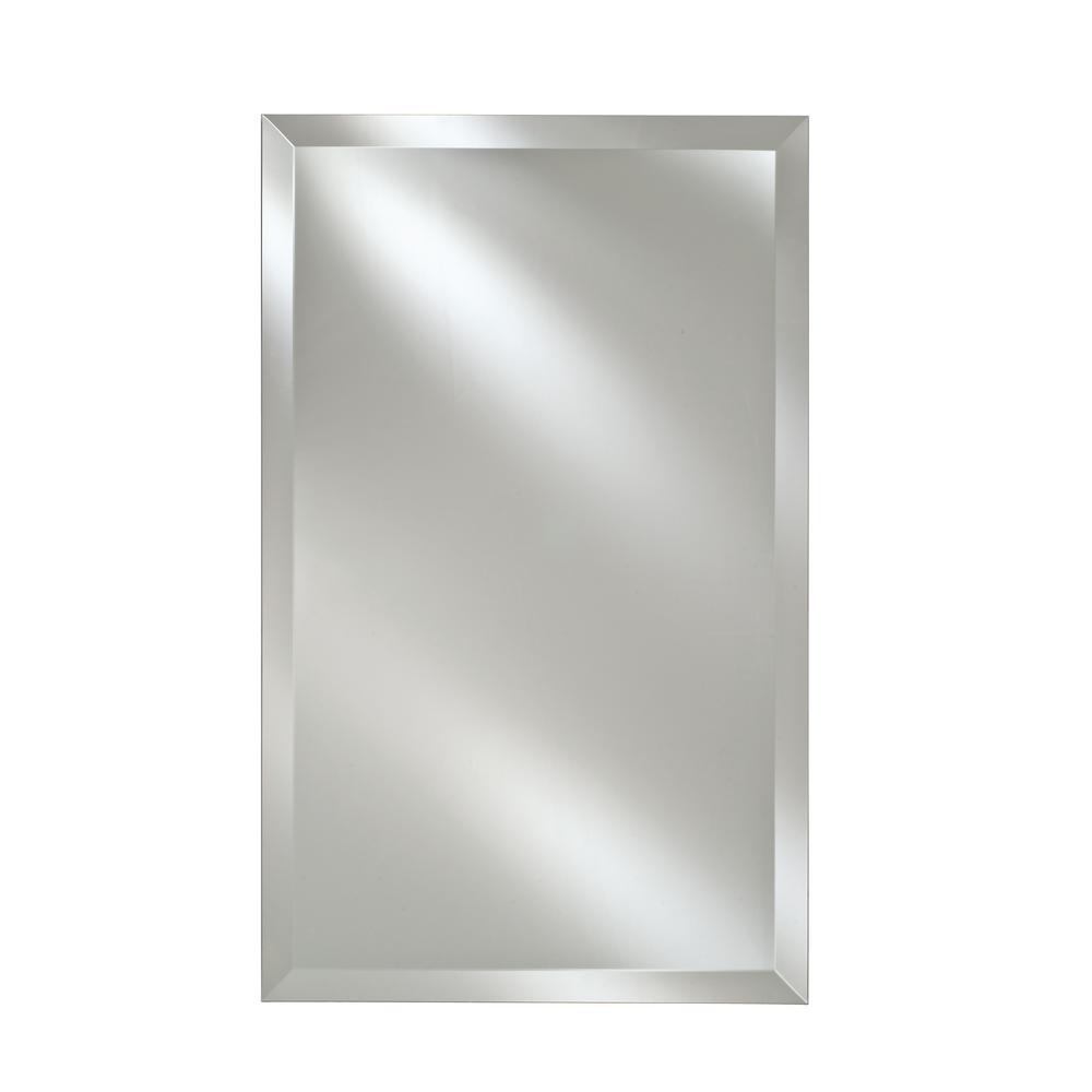Single Door 16 in. x 26 in. Recessed Medicine Cabinet Basix Frameless Beveled