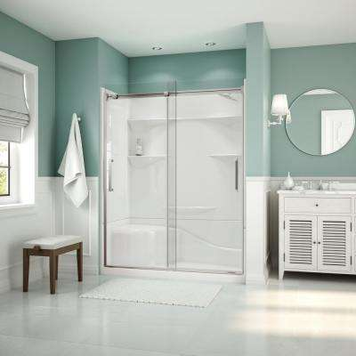 Artesia 56 in. - 59 in. x 74 in. Frameless Sliding Shower Door in Chrome