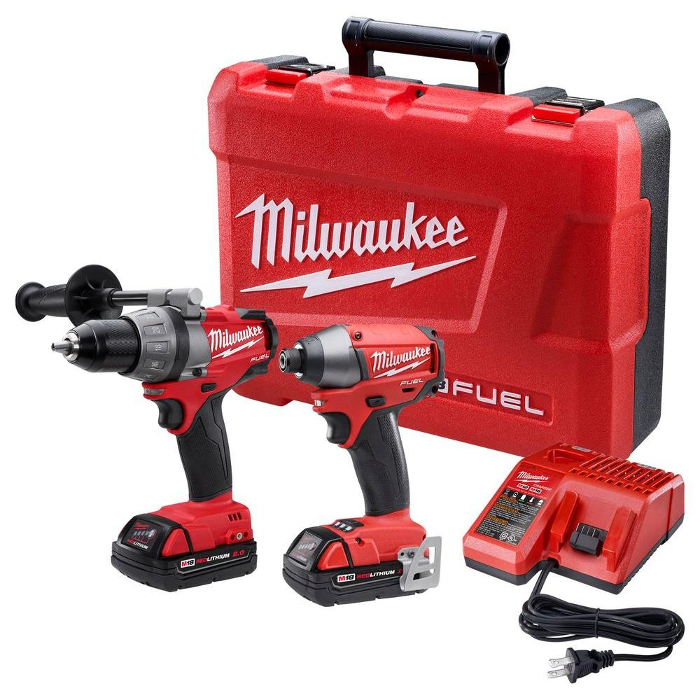 Milwaukee M18 FUEL 18-Volt Brushless Lithium-Ion Drill/Impact Combo Kit (2-Tool)