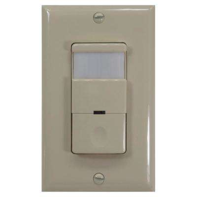 120 - 277 Volt Occupancy/Vacancy Passive Infrared Motion Sensor Wall Switch with Night Light