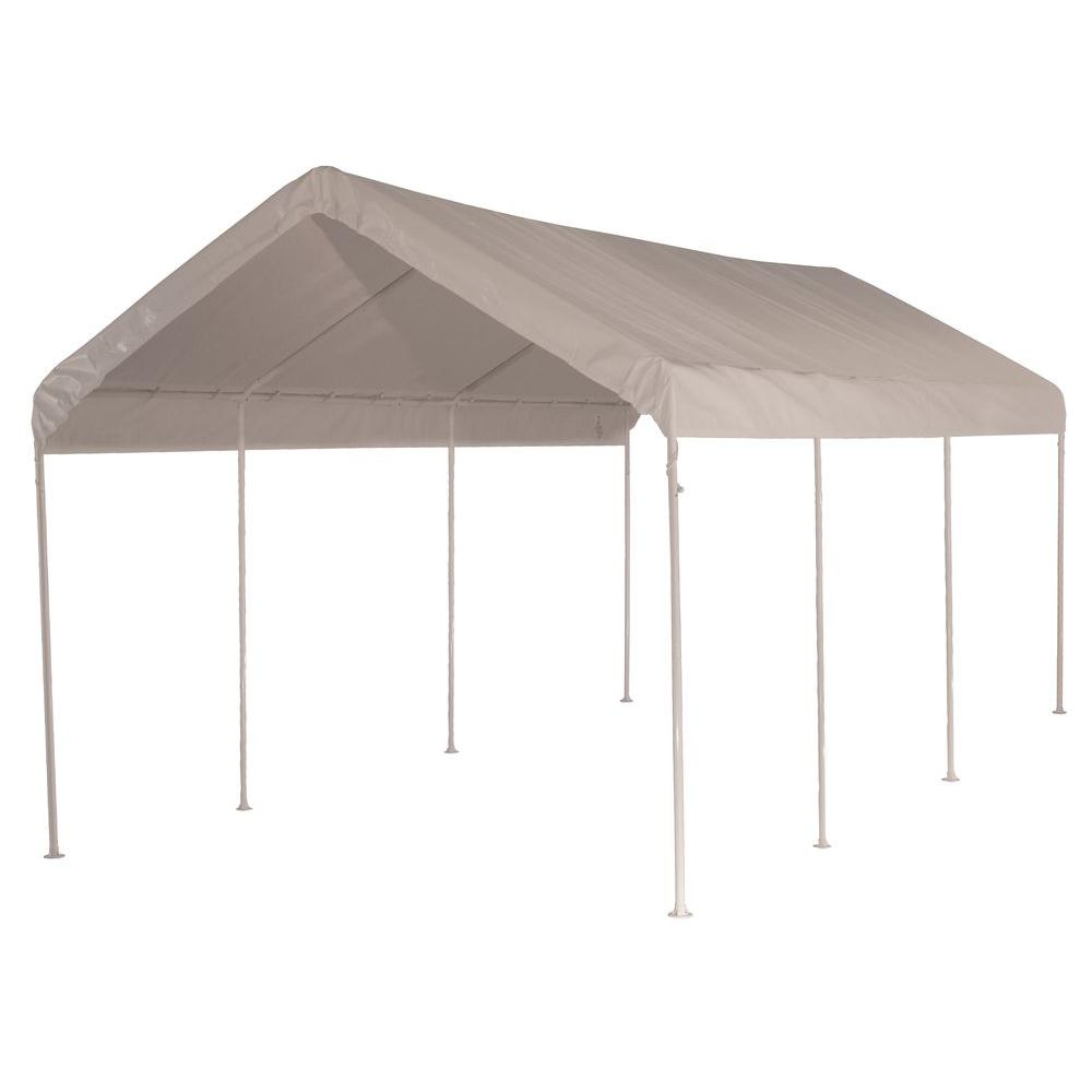 white all purpose 8 leg canopy 23522 the home depot - U Shape Canopy 2015
