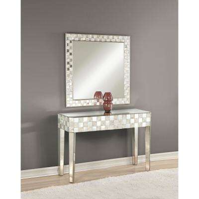 Nasa Silver and Mirrored Console Table