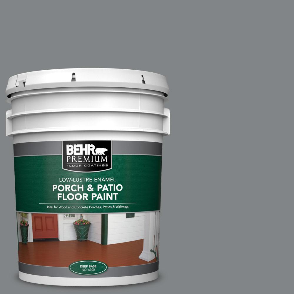 Behr Premium 5 Gal Pfc 63 Slate Gray Low Lustre Enamel Interior