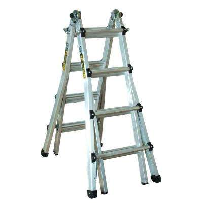 17 ft. Aluminum Telescoping Multi-Position Ladder with 300 lb. Load Capacity