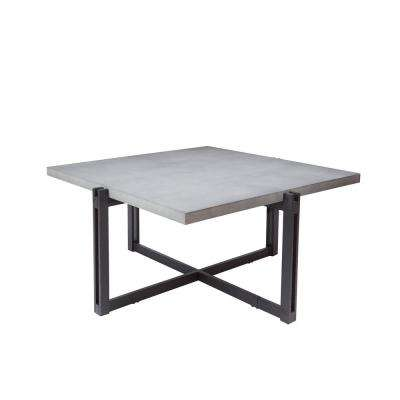 Dakota Gray Square Concrete Top Coffee Table